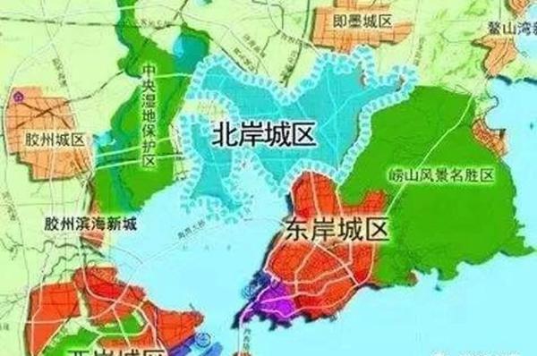 青岛三大城区规划图