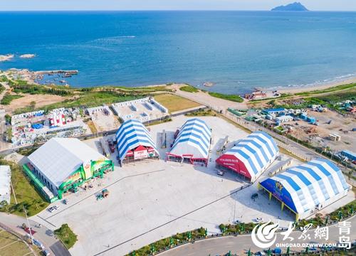 第27届青岛国际啤酒节即将于8月4日隆重开幕,装扮一新的金沙滩啤酒城