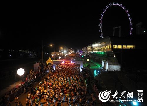 2017青岛?西海岸夜间国际马拉松现场规划图.