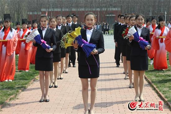 """青岛职业技术学院第三届""""中华优秀传统文化教育月""""启动仪式在学院孔子"""