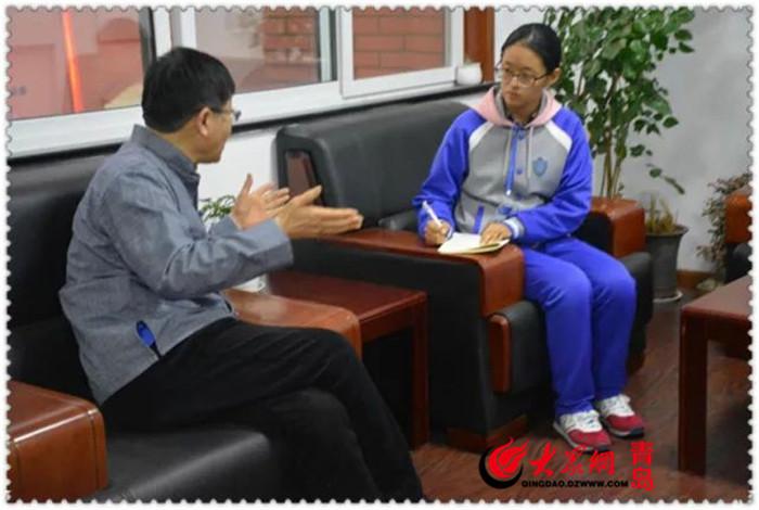 最后,青岛国开实验中学学生自主管理委员会主席崔鹏飞进行活动秩序