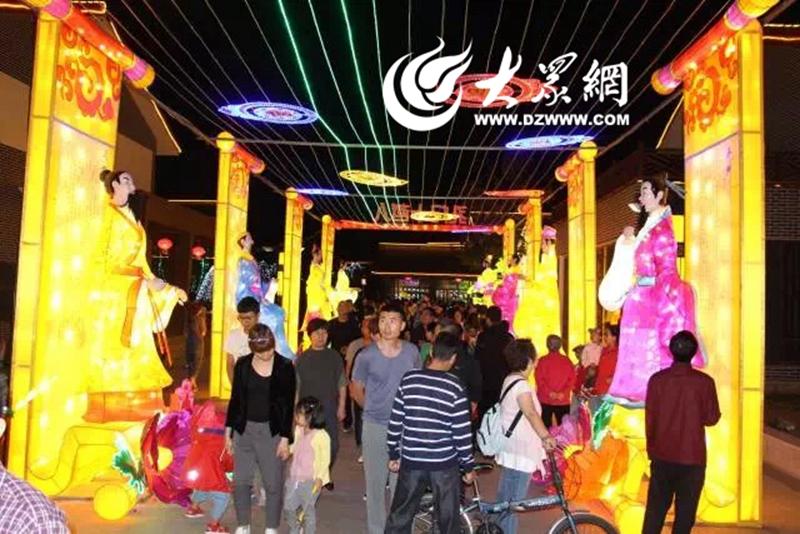 国庆花灯点亮胶州 传统文化贯通古今