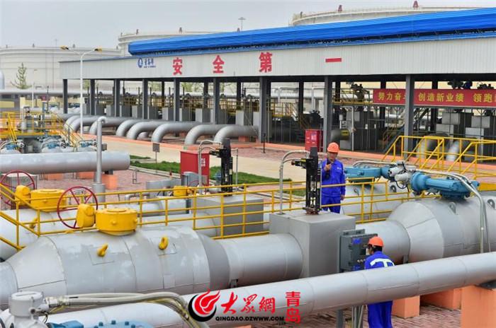 """实现原油""""门到门""""全程物流_董家口港——鲁中、鲁北输油管道(二期)投产试运行"""
