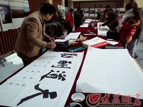 """李哥庄举办""""生态大沽河 文化李哥庄""""书法创作笔会"""