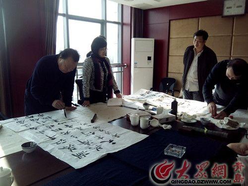 """李哥庄举办""""生态大沽河_文化李哥庄""""书法创作笔会"""