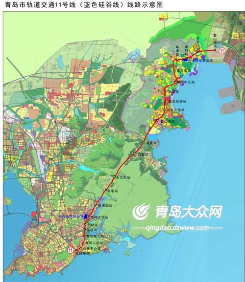 青岛在建5条地铁 11号线崂山段架首个U梁图片