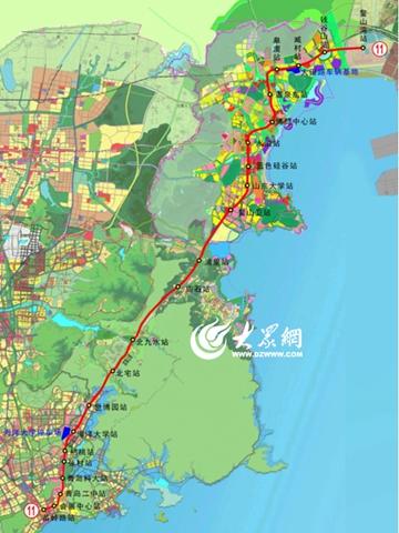 青岛地铁11号线即墨段土建工程收尾