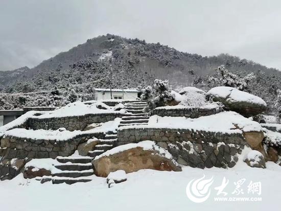 青岛市崂山区青山村被雪覆盖