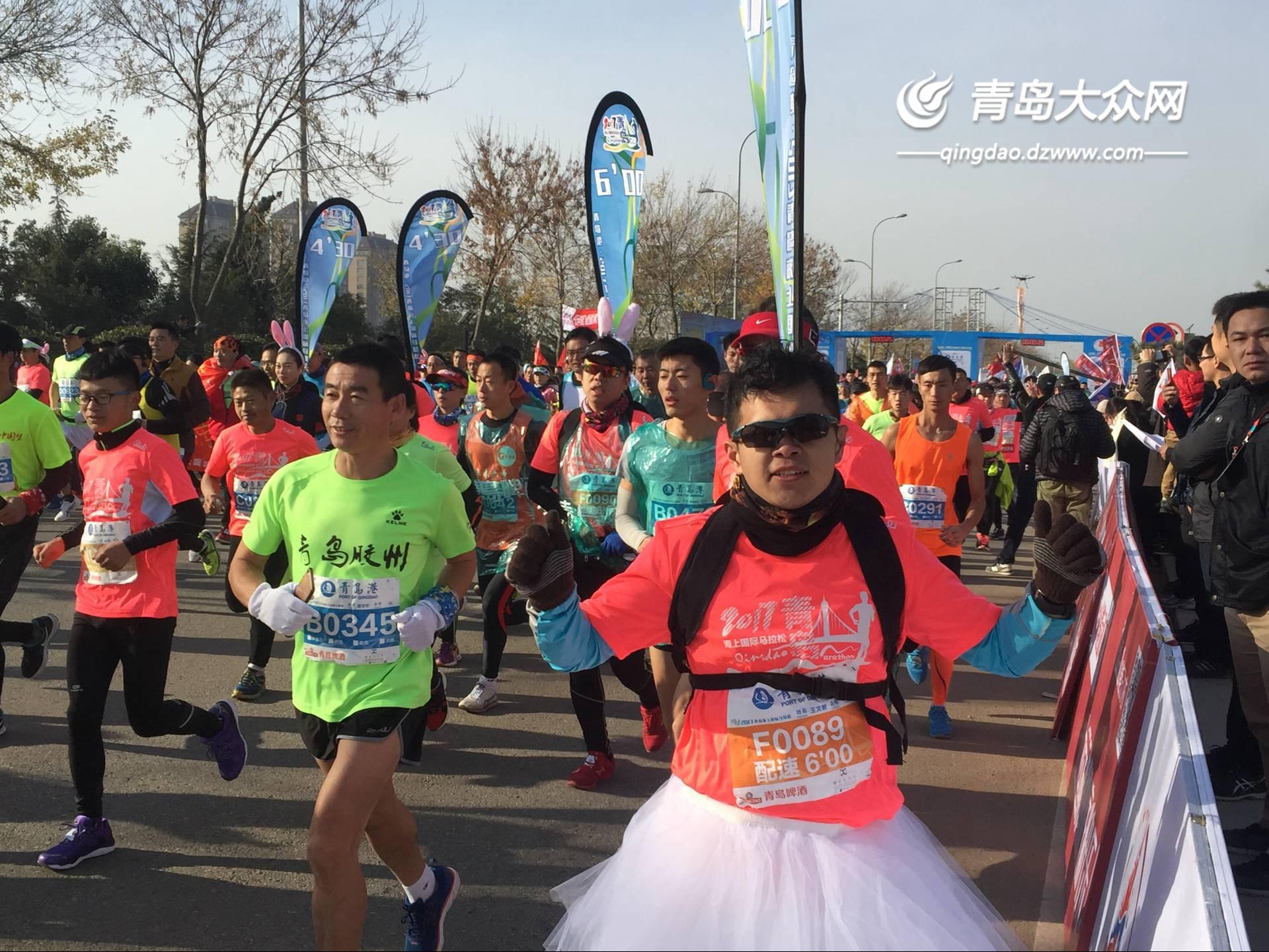 快讯:国内首个海上马拉松在青岛跨海大桥震撼开跑