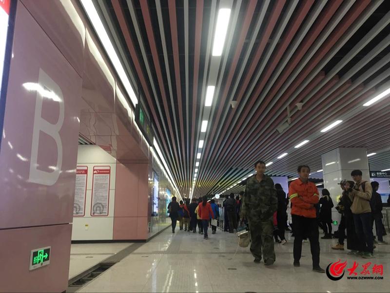 青岛地铁2号线周日起试乘 不含五四广场站