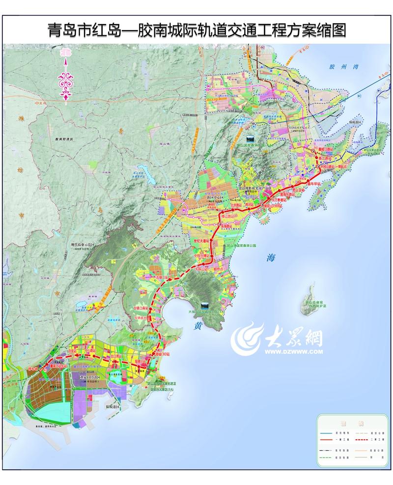 """根据青岛市地铁工程线网规划,将继续加快实施""""18448""""工程,即规划建设"""