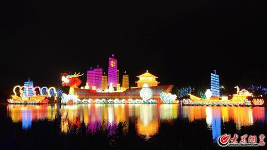 青岛第四届赏灯节今天在青岛世博园开幕 夜场票价50元