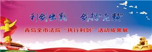 """青岛全市法院""""执行利剑""""活动成果展"""
